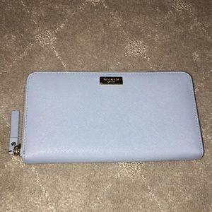 Kate Spade Light Blue Leather Clutch Wallet